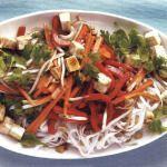 Рецепт Жаренная лапша с тофу и овощами