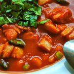 Рецепт Томатный суп с копченой треской