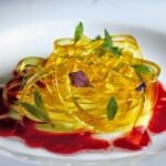 Рецепт Апельсиновые спагетти (Молекулярная кухня)