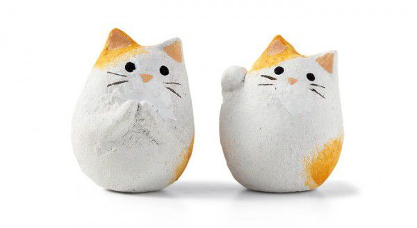 На фото Фуд-арт: Японское печенье с фигурками котиков