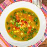 Рецепт Постный суп с кукурузой и горошком