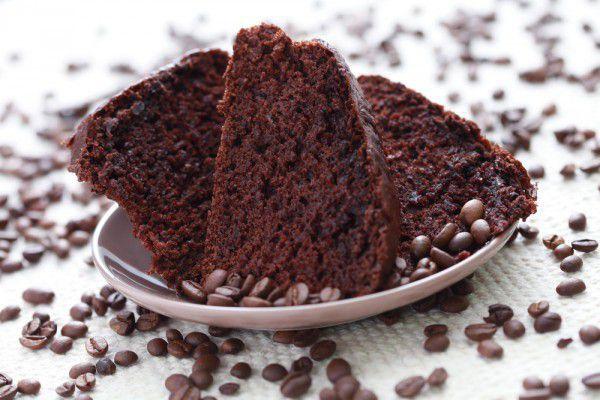 На фото Постный кофейный пирог в мультиварке