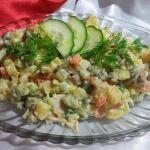 Рецепт Салат оливье вегетарианский
