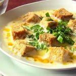 Рецепт Сырный суп на курином бульоне