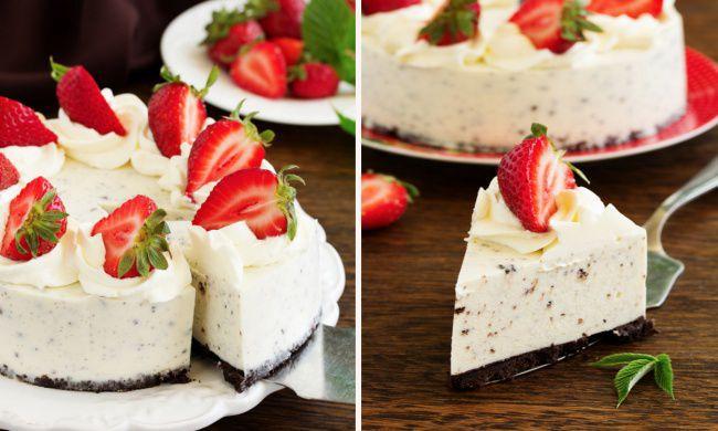 На фото Творожный десерт без выпечки