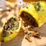 Рецепт Картофельный рулет с грибами