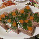 Рецепт Новогоднее заливное из говядины
