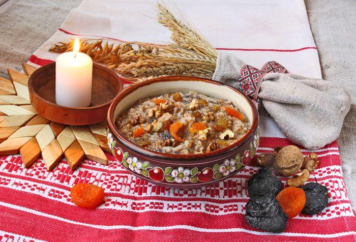 На фото Меню на Святой Вечер (Сочельник): 12 постных блюд
