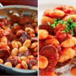 Рецепт Фасоль с помидорами и колбасой чоризо