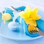 Пасхальная сервировка: 15 идей в голубых тонах