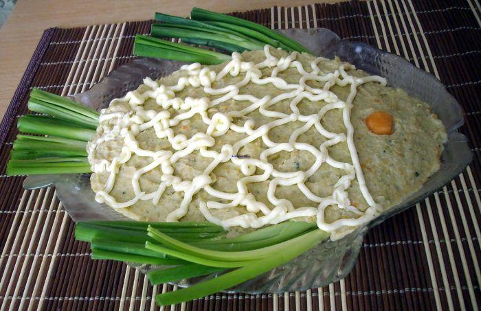 На фото Рецепт форшмака из сельди без яиц
