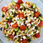 Рецепт Греческий салат с макаронами