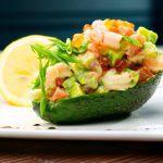Рецепт Лодочки из авокадо с креветками