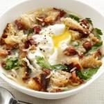 Рецепт Куриный бульон с яйцом и беконом