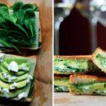 Рецепт Жареный сэндвич с авокадо, шпинатом и сыром