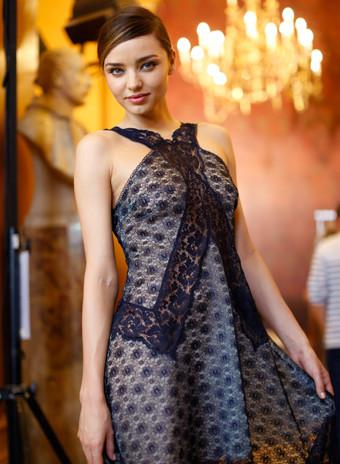 Mandatory Credit: Photo by REX (3069978z) Miranda Kerr backstage Stella McCartney show, Spring Summer 2014, Paris Fashion Week, France - 30 Sep 2013