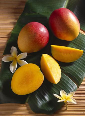 Mandatory Credit: Photo by Design Pics Inc/REX (2077511a) Still life with ripe mango, tropical Hawaiian fruit, sectioned and whole B1119 VARIOUS