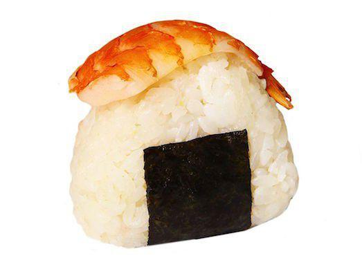 На фото Рисовые колобки (Онигири, Омусуби)