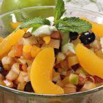 Рецепт Фруктовый салат с мятной заправкой