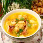 Рецепт Гороховый суп с копченой курицей в мультиварке