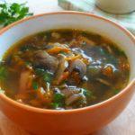 Рецепт Грибной суп с беконом