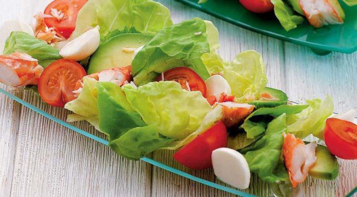 На фото Королевский крабовый салат