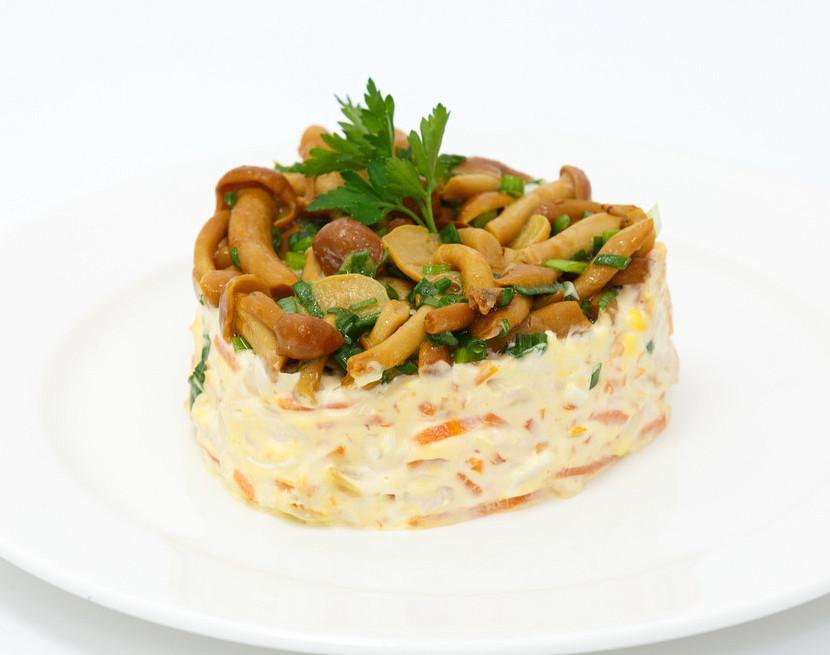 салат грибное лукошко рецепт с фото это устойчивое