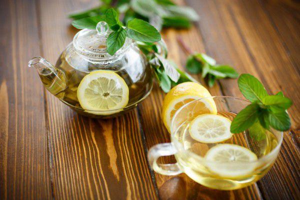 Чай мята с лимоном