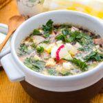 Рецепт Окрошка на квасе с колбасой
