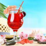 Рецепт Вишневый коктейль с шампанским
