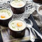 Рецепт Запеченные яйца с зеленым луком и фетой