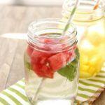 Рецепт Как сделать напиток из арбуза с мятой