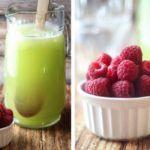 Рецепт Дынный напиток с лаймом и малиной