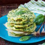 Рецепт Творожные оладьи со шпинатом