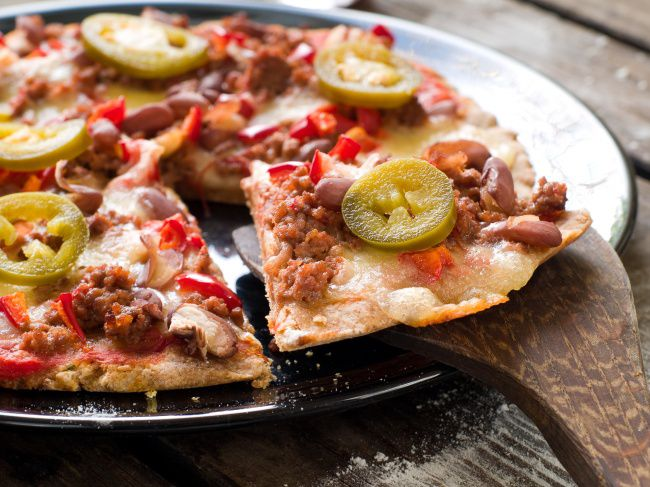 На фото Мексиканская пицца в домашних условиях