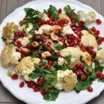 Рецепт Салат с грецким орехом из цветной капусты и граната