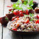 Рецепт Рисовый салат с тунцом консервированным