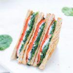Рецепт Сэндвич со шпинатом и лососем