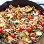 Рецепт Вкусная индейка с овощами и сыром