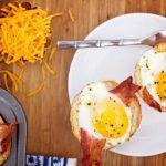 Рецепт Вкусная яичница в духовке с беконом