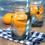 Рецепт Апельсиновый напиток с черникой