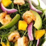 Рецепт Домашний салат из креветок и авокадо