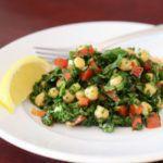 Рецепт Вкусный салат без майонеза из нута со шпинатом