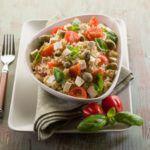 Рецепт Овощной салат с рисом и сыром тофу
