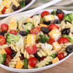Рецепт Вкусный овощной салат с пастой