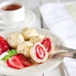Рецепт Творожные кнедлики с клубникой