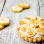 Рецепт Вкусные тарталетки с начинкой из бананового крема в мини формате