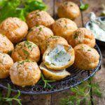 Рецепт Французские сырные профитроли (пошагово) c икорным кремом