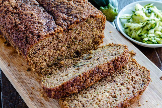 На фото Новый хлеб без дрожжей в духовке с цукини и шоколадом