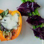 Рецепт Вкусный болгарский перец фаршированный грибами и кабачком